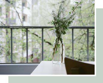 自然と花瓶のオシャレなイメージ画像